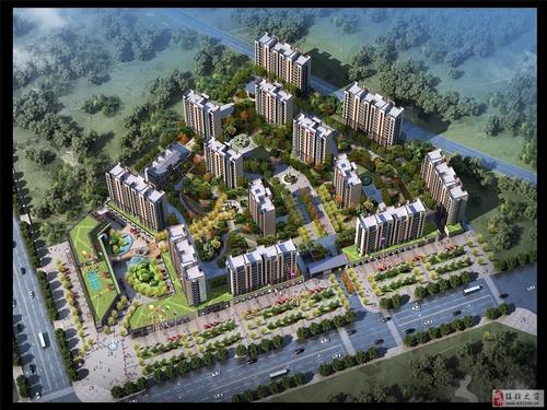 晟锦花园鸟瞰图