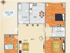 书香苑,最好楼层,南北通三室,3个阳面卧室。