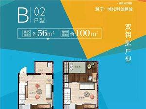 星荟城城南新区高铁站旁复试4.8米挑高