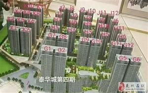 售泰华城4期G10区楼王4房119万元