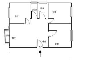 万象城3室2厅1卫32万元