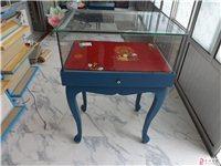 青州珠宝柜,青州大润发珠宝柜,双层珠宝柜,玻璃柜台