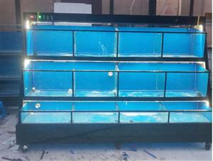 海鲜池玻璃饭店鱼缸制冷鱼池淡海水循环打氧大闸蟹池