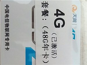 电信数据年卡一张48G
