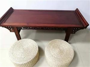 二手红木书法桌子,九成新,有六张