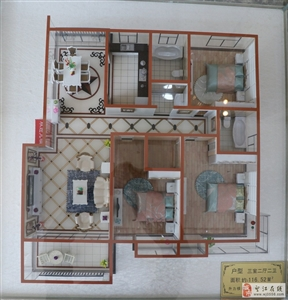 三室两厅两卫116平