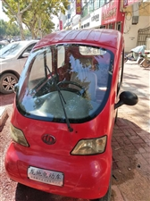 四轮方向盘电动车红色