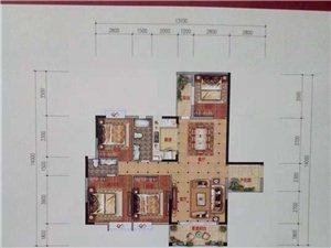 新城君和豪庭141平米中层电梯毛坯四房售77.3万