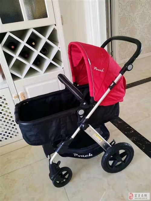 pouch高景观婴儿车,九成新,300转