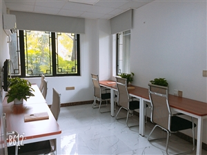 棕榈泉花园旁,精装全配6人间,花园式联合办公室出租