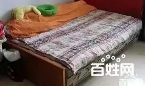 老式床+海绵垫,学生陪读打更用50块,自取