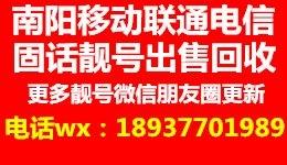 南阳移动三连靓号电话:18937701989