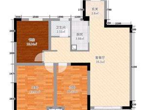 农机中学3中旁瑞景国际3室2厅1卫黄金楼层随时过户