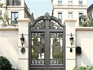 天津鋁藝庭院門,別墅鋁藝護欄,鋁藝圍墻大門廠家