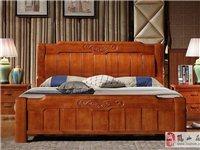 实木橡木大床款式多多