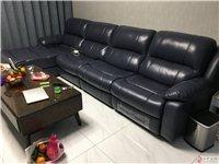 真皮组合功能沙发