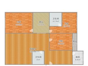 水厂附近3室2厅2卫单价只投1800元