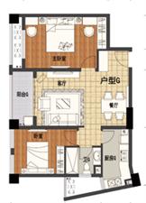 九龙公馆2室2厅1卫56万元