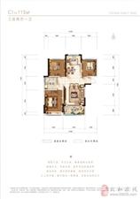 115平方 三室两厅一厨一卫