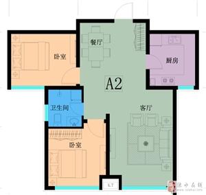 万泰鑫城嘉园2室2厅1卫82万元