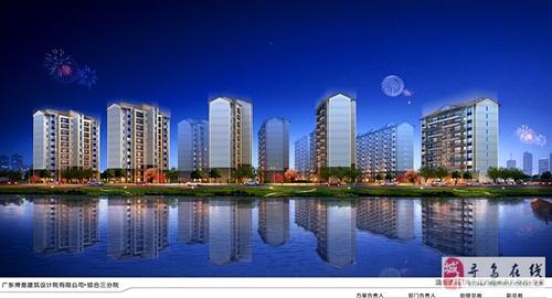 寻乌碧桂园沿街透视夜景