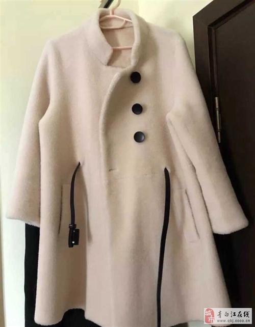 出售颗粒羊毛皮毛一体大衣