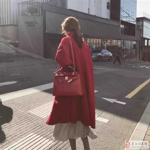 出售红色双面羊绒大衣