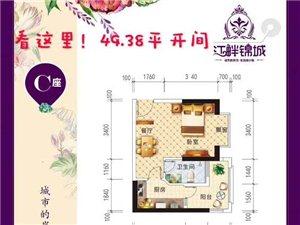 江畔景城1室0厅1卫45万元