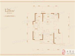 标准层126平米户型1