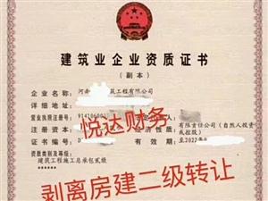 2018轉讓收購河南鄭州房建總包二級資質剝離帶安許