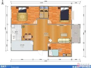 山水龙城3室2厅1卫60万元