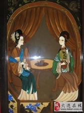 玻璃油画作品