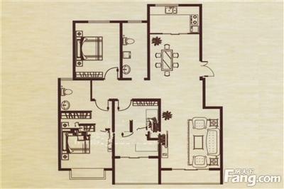 3室2厅2卫厨,建筑面积:125.58�O