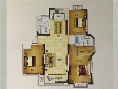 3室2厅2卫1厨, 建筑面积约145�O