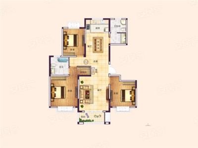 3室2厅2卫1厨, 建筑面积约132�O