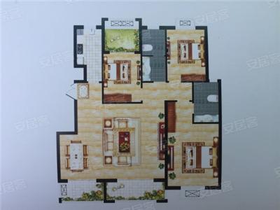 3室2厅2卫1厨, 建筑面积:约150�O