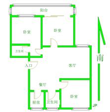 天宝花园无差额带部分家具家电拎包入住有地下室