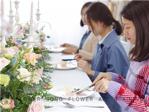 重庆花艺培训学校,花之歌零基础花店创业班一对一辅导
