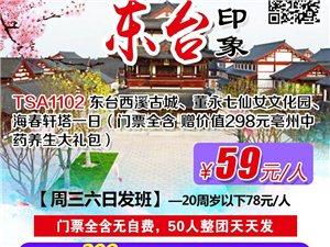 特价59元/人东台一日