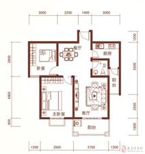 龙翔国际特价2室2厅1卫坐北朝南大阳台46万元