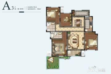 4室2厅2卫 154平米