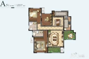 3室2厅2卫 135平米