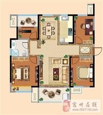 万达华城4室2厅1卫86万元