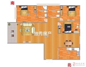 山水龙城4室2厅2卫精致装修,全明户型,急售