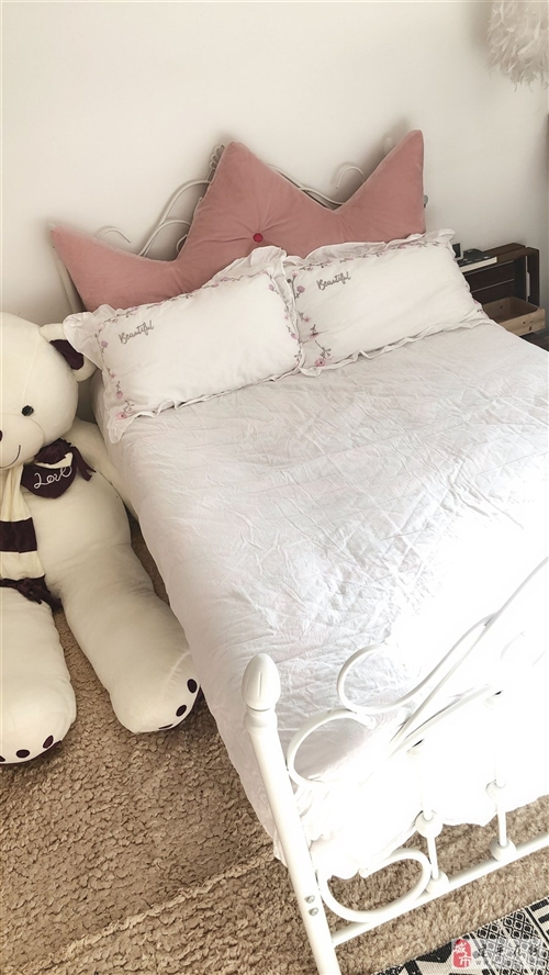 二手铁艺公主床一口价95新包括床和床垫
