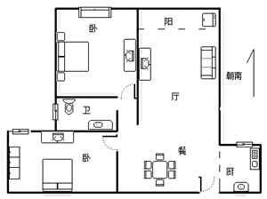 名邦·国际花都3室2厅1卫69万元