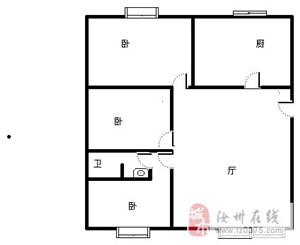 绿洲苑3室2厅1卫全新装修没人住过的新房