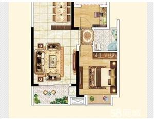 万达华府一期3室1厅78万元