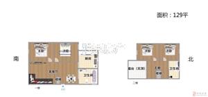水源小区精装3室2厅2卫50万元附送大露台