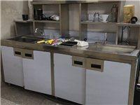 低价出售不锈钢水槽操作台一套